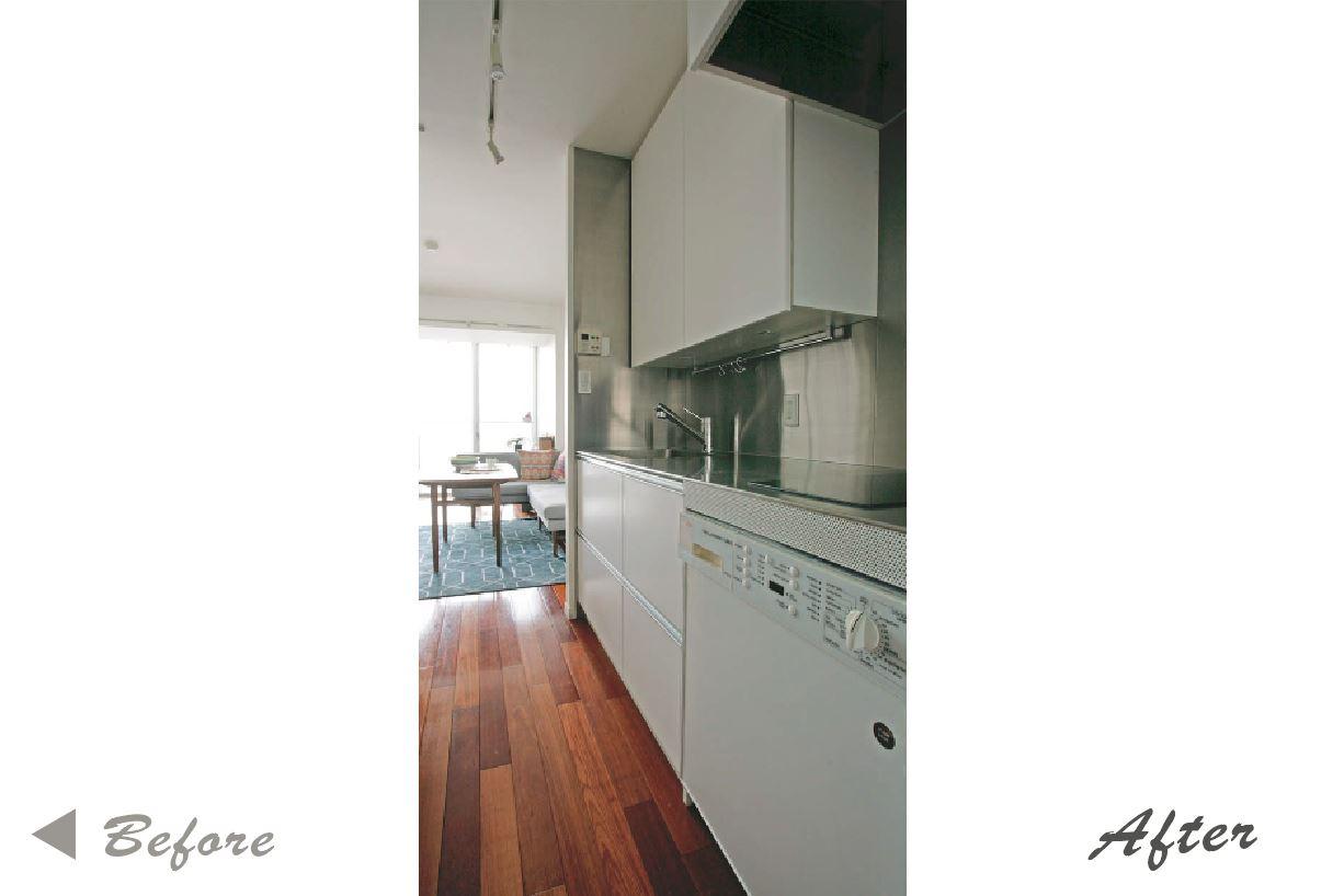 開放感と明るさがありながら、リビングとの一体感も感じるキッチン。 イメージ