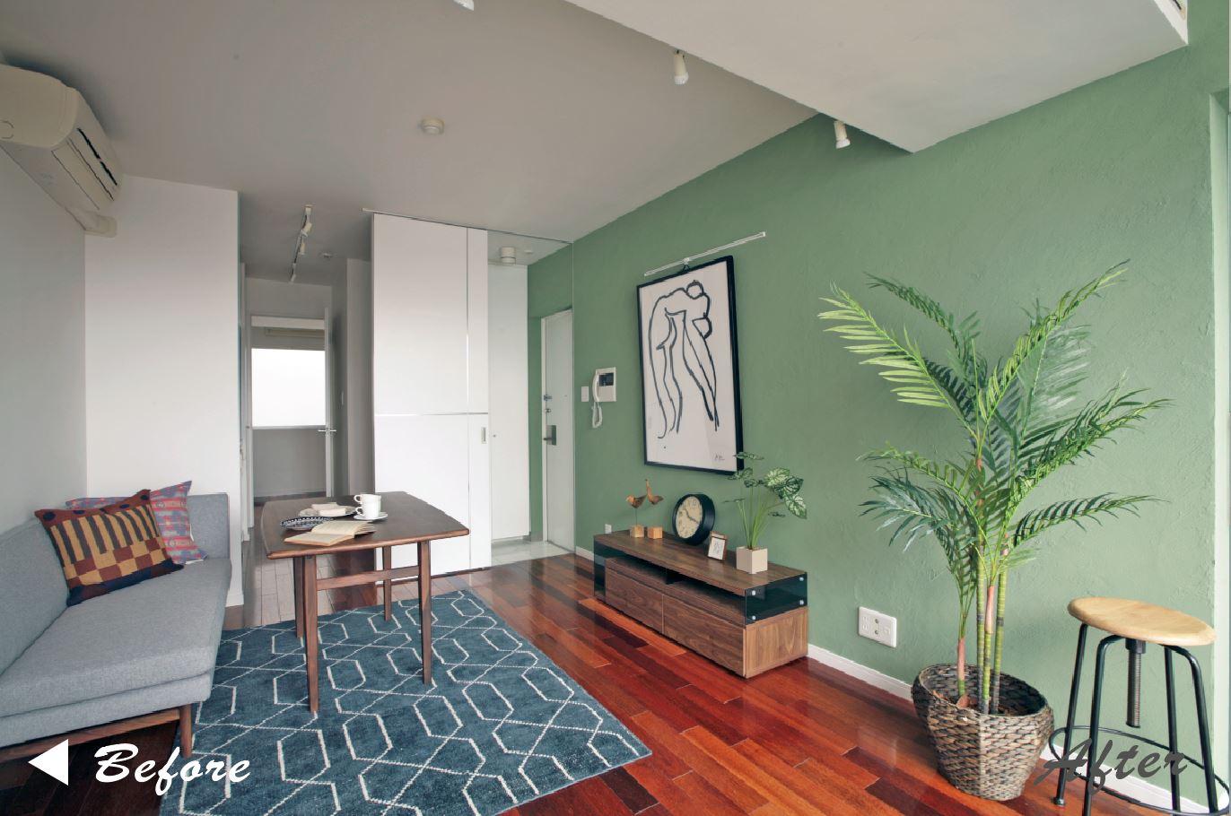 壁一面の珪藻土でより優しく、居心地のよい空間へ。 イメージ