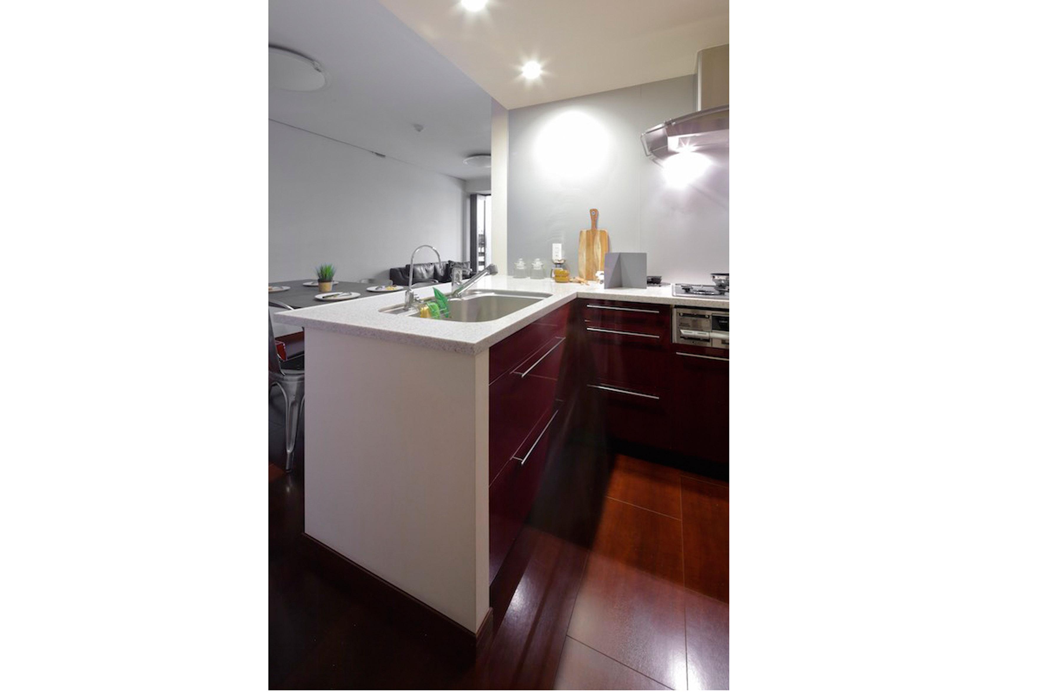しっかり作業スペースを確保したシステムキッチンで毎日のお料理もスムーズに行えます。 イメージ