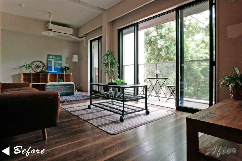 バルコニーのクリアブロンズガラスは居室からの眺望や連続感も演出できます。 イメージ