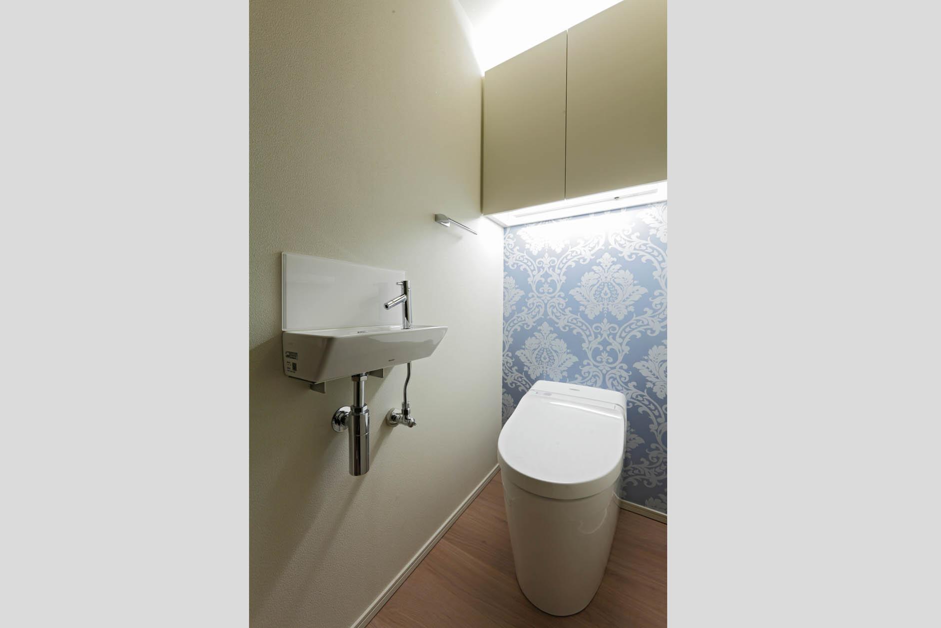 トイレは1Fと2Fの二ヵ所に設置。 イメージ