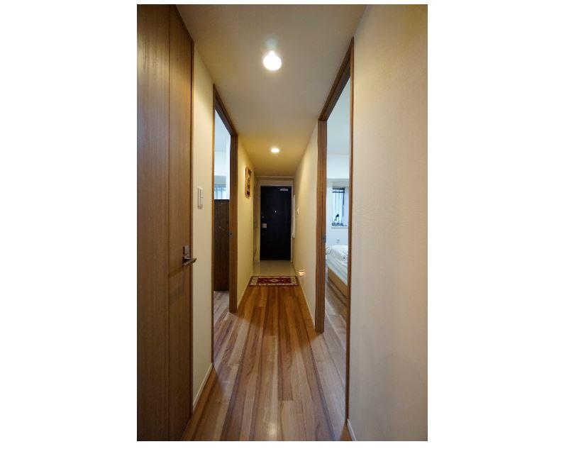 振り分けの居室はプライバシー性が向上します。主寝室7帖 イメージ