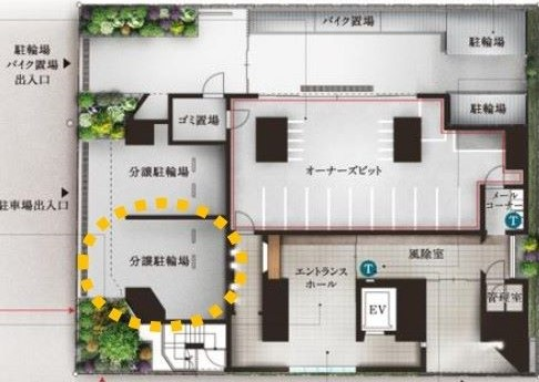 分譲駐車場付き専有面積22、21平米(全長5、3ミリ×全幅3、2ミリ×高さ2、35ミリ)管理費4500円修繕積立金2200円(… イメージ