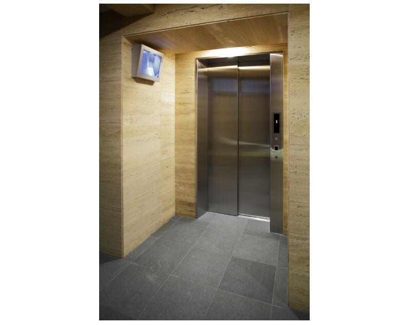 非接触キーでのエレベーター連動システム。エントランスに入るとエレベーターが迎えに来ます。 イメージ