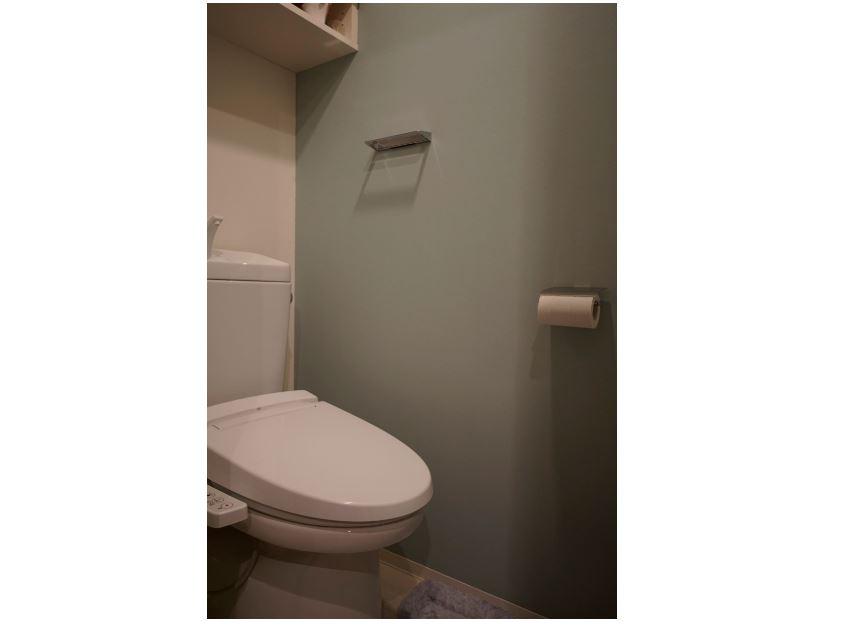 珪藻土を施工したトイレ。消臭効果や湿気除去に効果があります。 イメージ