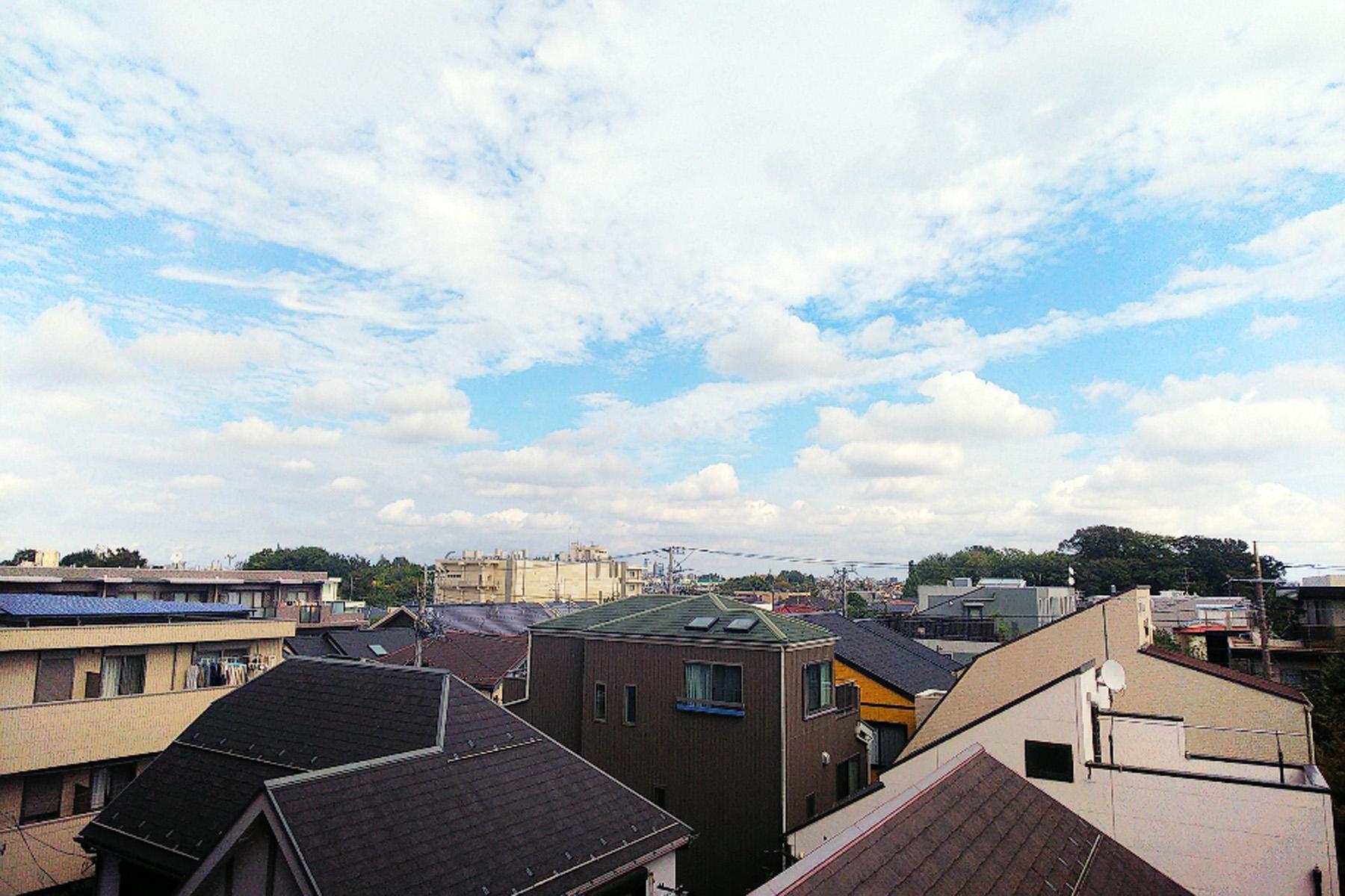 3階建て以上建たない、第一種低層エリアが広がる眺望 イメージ