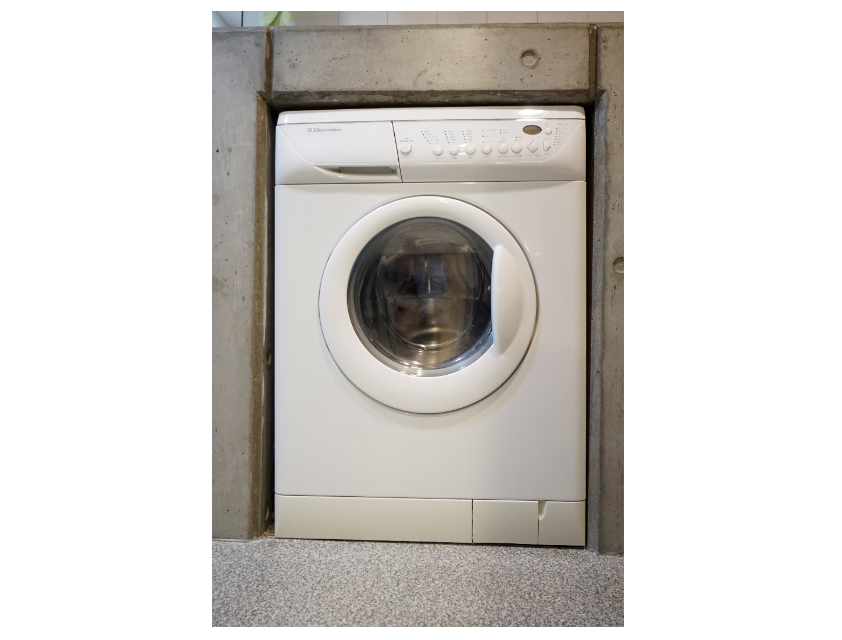 ビルトイン洗濯機。 イメージ