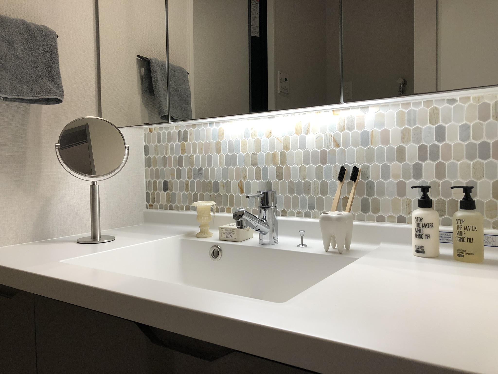 支度の時間を心地よくする洗面室 イメージ