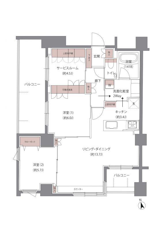 オークフローレ横濱保土ヶ谷   【SOLD OUT】間取り図